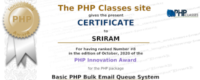 PHP Classes Profile